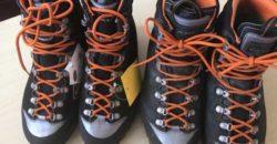 シンデレラフィットの登山靴AKu YATSUMINE2足目。