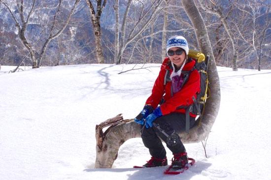 2021年3月20日の軍沢岳、雪解け早っ!