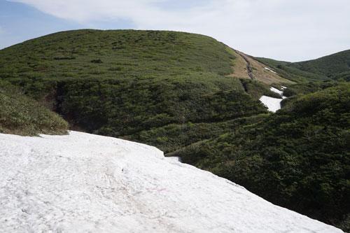 八合目小屋から笹森山方面