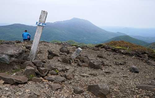 笊森山山頂から岩手山展望