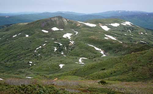 笊森山から乳頭山展望