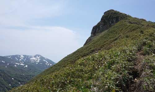 乳頭山と男女岳
